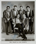 Music Memorabilia:Autographs and Signed Items, Bill Haley and A Comet Signed Black and White Photograph (Circa1950s)....