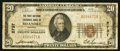 National Bank Notes:Virginia, Roanoke, VA - $20 1929 Ty. 1 The First National Exchange Bank Ch. #2737. ...