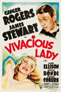 "Movie Posters:Comedy, Vivacious Lady (RKO, 1938). One Sheet (27"" X 41"").. ..."