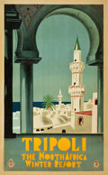 "Movie Posters:Miscellaneous, Tripoli, Libya Travel Poster (ENIT, c.1930). Poster (24.5"" X39.5"").. ..."