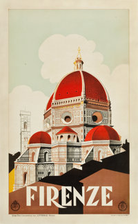 "Florence, Italy Travel Poster (ENIT, c. 1930s). Poster (24.25"" X 39.75"")"