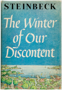 [Featured Lot] John Steinbeck. The Winter of Our Discontent. New York: Viking, [1961]. First ed