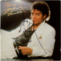 Music Memorabilia:Autographs and Signed Items, Michael Jackson Autographed Thriller LP (Epic 38112,1982)....