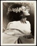 "Movie Posters:Horror, The Bride of Frankenstein (Universal, 1935). Photo (8"" X 10"") &Autographed Page (7"" X 7"").. ... (Total: 2 Items)"