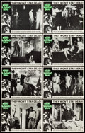 "Movie Posters:Horror, Night of the Living Dead (Continental, 1968). Lobby Card Set of 8(11"" X 14"").. ... (Total: 8 Items)"