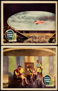 """Things to Come (United Artists, 1936). Lobby Cards (2) (11"""" X 14""""). ... (Total: 2 Items)"""