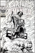 Original Comic Art:Covers, Dave Hoover and Danny Bulanadi Captain America #428 CoverOriginal Art (Marvel, 1994)....