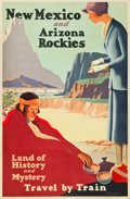 "Movie Posters:Miscellaneous, New Mexico and Arizona Travel Poster (Union Pacific, c.1925).Poster (27"" X 41"") ""Land of History and Mystery."". ..."