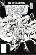 Original Comic Art:Covers, Luke McDonnell and Bill Wray Justice League of America #249Cover Original Art (DC, 1985)....