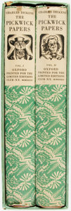 Books:Fine Press & Book Arts, [Limited Editions Club] John Austen, illustrator. SIGNED. CharlesDickens. The Posthumous Papers of the Pickwick Club. ... (Total:2 Items)