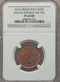 Italy, Italy: Italian Republic Proof 5 Denari  Anno II (1803) PR64Red and Brown NGC,...