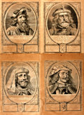 Books:Prints & Leaves, Four Large Engraved Plates from the Petrus Scriverius First EditionWork Principes Hollandiae, Zelandiae et Westfrisiae...