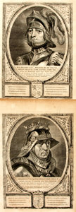 Books:Prints & Leaves, Pair of Large Engraved Plates from the Petrus Scriverius FirstEdition Work Principes Hollandiae, Zelandiae et Westfrisi...