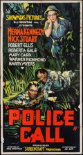 """Movie Posters:Crime, Police Call (Showmens Pictures, 1933). Three Sheet (41"""" X 77"""").Crime.. ..."""
