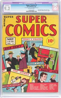 Super Comics #1 (Dell, 1938) CGC Conserved NM- 9.2 Off-white pages