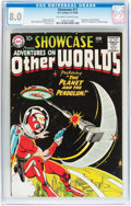 Silver Age (1956-1969):Science Fiction, Showcase #17 Adam Strange (DC, 1958) CGC VF 8.0 Off-white to white pages....