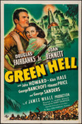 """Movie Posters:Adventure, Green Hell (Universal, 1940). One Sheet (27"""" X 41"""") Style B.Adventure.. ..."""