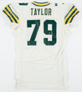 Football Collectibles:Uniforms, 1994 Aaron Taylor Game Worn Training Camp/Preseason Green Bay Packers Jersey....