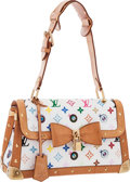 Luxury Accessories:Bags, Louis Vuitton Limited Edition White Monogram Multicolore Eye Need You Bag by Takashi Murakami. Very Good Condition. 12...
