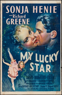 """My Lucky Star (20th Century Fox, 1938). Trimmed One Sheet (26.5"""" X 41"""") Style A. Comedy"""