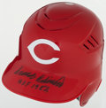 Baseball Collectibles:Hats, Frank Robinson Signed Cincinnati Reds Batting Helmet....