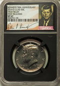 Kennedy Half Dollars, 2014-P 50C High Relief, Clad, 50th Anniversary, First Releases,SP67 NGC. PCGS Population (341/130)....