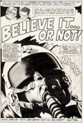 "Original Comic Art:Panel Pages, Dan Adkins and Bill Everett Chamber of Darkness #8 ""BelieveIt... Or Not!"" Splash Page 1 Original Art (Marvel, 197..."