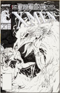 Original Comic Art:Covers, Steve Lightle Classic X-Men #37 Cover Phoenix Original Art(Marvel, 1989)....