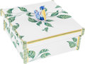 "Luxury Accessories:Home, Hermes White Toucans Limoges Porcelain Box. ExcellentCondition. 5.5"" Width x 2.5"" Height x 5.5"" Depth. ..."