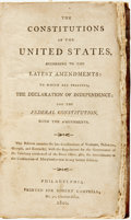 Books:Americana & American History, [Americana] The Constitutions of the United States, According tothe Latest Amendments...Philadelphia: Robert Campbe...