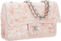 """Luxury Accessories:Bags, Chanel Pink Sequin Flap Bag with Silver Hardware. ExcellentCondition. 9.5"""" Width x 7"""" Height x 3"""" Depth. ..."""