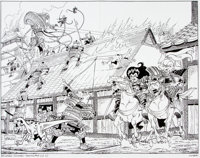 Stan Sakai Usagi Yojimbo: Senso #3 Wraparound Cover Original Art (Dark Horse, 2014)