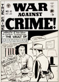 Original Comic Art:Covers, Johnny Craig War Against Crime #10 Cover Original Art (EC, 1949-50)....