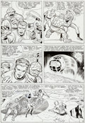Original Comic Art:Panel Pages, Jack Kirby and Chic Stone Fantastic Four #38 Page 9 Original Art (Marvel, 1965)....
