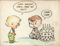 Original Comic Art:Sketches, Charles Schulz Specialty Drawing (c. 1952)....