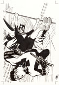 Original Comic Art:Covers, Adam Hughes Batgirl #3 Cover Original Art and Color Print(DC, 2012)....