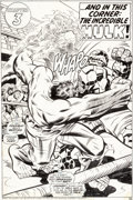 Original Comic Art:Splash Pages, Rich Buckler and Joe Sinnott Giant-Size Super-StarsFeaturing the Fantastic Four Splash Page 26 Original Art (Marv...
