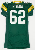 Football Collectibles:Uniforms, 1999 Marco Rivera Game Worn Green Bay Packers Jersey....