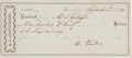 Autographs:Others, 1879 Alexander Cartwright Signed Receipt....