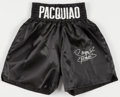 Boxing Collectibles:Autographs, Manny Pacquiao Signed Trunks. ...