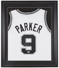 Basketball Collectibles:Uniforms, Tony Parker Signed Jersey....