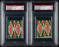 Baseball Cards:Unopened Packs/Display Boxes, 1951 Topps Red Back One Cent Wax Packs PSA Graded Pair (2)....