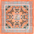 "Luxury Accessories:Accessories, Hermes 90cm Pink ""Early America,"" by Françoise de la Perriere SilkScarf. Pristine Condition. 36"" Width x 36"" Length..."