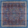 "Luxury Accessories:Accessories, Hermes 90cm Blue ""Les Jardins d'Armenie,"" by Karen Petrossian SilkScarf. Pristine Condition. 36"" Width x 36"" Length..."