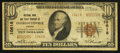 National Bank Notes:Virginia, Charlottesville, VA - $10 1929 Ty. 2 NB & TC Ch. # 10618. ...