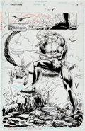 Original Comic Art:Splash Pages, Steve Lieber and Curt Shoultz Hawkman #15 Splash page 13Original Art (DC, 1994)....