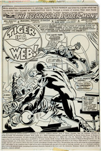 Sal Buscema, Mike Esposito, and Frank Giacoia The Spectacular Spider-Man #10 Splash Page 1 Original Art (Marvel, 1