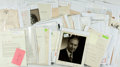 Autographs:Celebrities, Large Lot of Ninety-One Miscellaneous Autographs. Includesautograph and typed letters signed, as well as clippedsignatures...