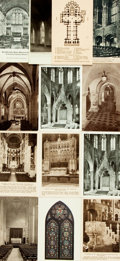 Miscellaneous:Postcards, [Postcards] Group of Thirteen Depicting Cathedrals. Circa 1940s.General rubbing and edgewear. Very good. From the collect...