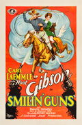 "Movie Posters:Western, Smilin' Guns (Universal, 1929). One Sheet (27"" X 41"").. ..."